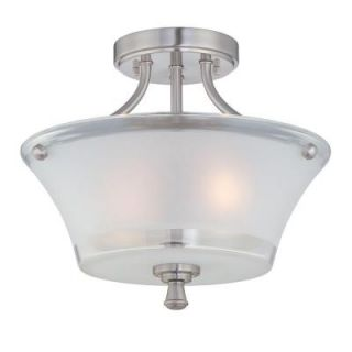 Illumine 2 Light Steel Semi Flush Mount Light with Frost Glass CLI LS 5732
