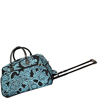 World Traveler Paisley 21 Rolling Duffel Bag