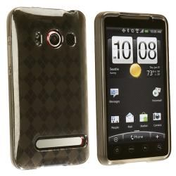 INSTEN Clear/ Smoke Argyle TPU Rubber Phone Case Cover for HTC EVO 4G