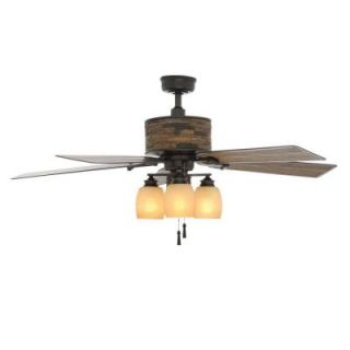 Hampton Bay Ellijay 52 in. Natural Iron Indoor/Outdoor Ceiling Fan YG205 NI