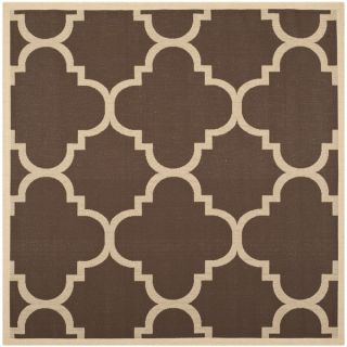 Safavieh Indoor/ Outdoor Courtyard Dark Brown Rug (710 Square