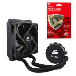 Corsair Hydro Series H55 Quiet liquid CPU Cooler   1 x 120mm Fan, Multi socket Support   CW 9060010 WW w/ McAfee 2015 Multi Access 1 User 5 Devices 1yr license