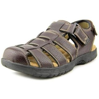 Deer Stags Kitts Men US 10 Brown Fisherman Sandal