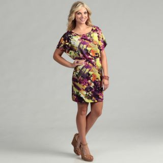 Jessica Howard Womens Purple Floral Print Dress   14110520