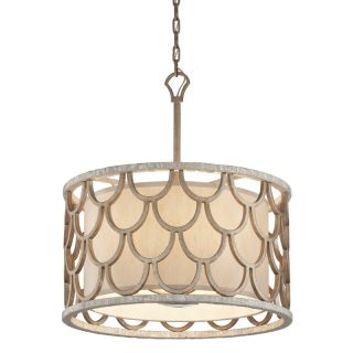 Corbett Lighting 195 45 Textured Koi Leaf Pendant Light