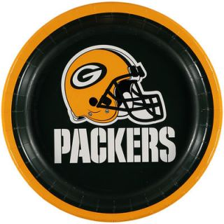 Green Bay Packers 8 Pack Lunch Plate Set