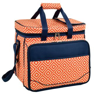 Picnic at Ascot Deluxe Picnic Cooler   Diamond Orange   Picnic Baskets