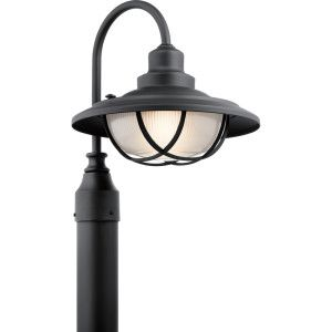 Kichler KIC 49694BKT Harvest Ridge Textured Black  Outdoor Post Lights Lighting