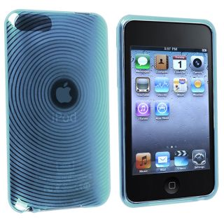INSTEN Clear Blue Circle TPU iPod Case Cover for Apple iPod Touch
