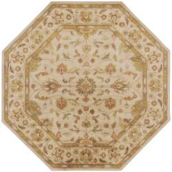 Safavieh Lyndhurst Collection Oriental Ivory/ Rust Rug (8 Round)