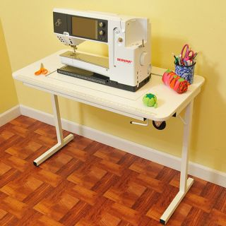 Arrow Gidget II White Crafts & Sewing Machine Stowable Table