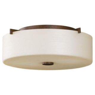 Feiss Sunset Drive 2 Light Corinthian Bronze Indoor Flushmount FM313CB