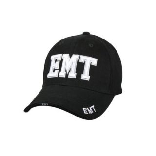 Black Deluxe Low Profile Baseball Cap   EMT