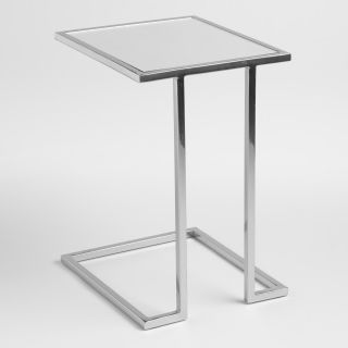 Square Chrome Metal Laptop Table