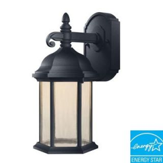 Hampton Bay Oxford Collection Black Outdoor LED Wall Lantern HB7040LEDP 05