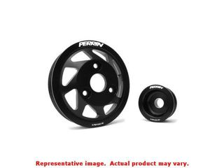 Perrin Lightweight Accessory Pulleys PSP ENG 120BK Black Fits:SCION 2013   2015