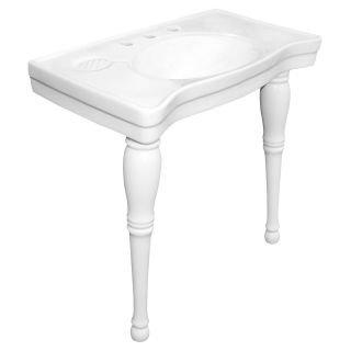 Kingston Brass Fauceture VPB1368 Imperial Basin Console   White