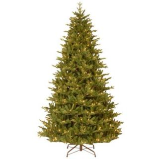 National Tree Company 7 1/2 ft. Feel Real Woodward Fir Hinged Artificial Christmas Tree with 750 Clear Lights PEWW4 300 75