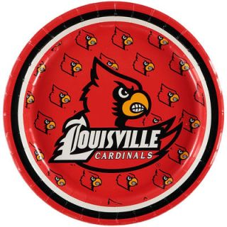 Louisville Cardinals 8 Pack Lunch Plate Set