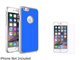 Insten Blue Brushed Aluminum Case Cover with Anti Glare Screen Protector for Apple iPhone 6 (4.7 inch) 2002638