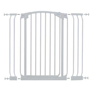 Dreambaby Chelsea Tall Auto Close 42.5 in x 39.5 in White Metal Child Safety Gate