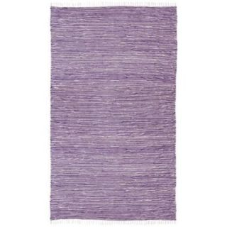 Purple Reversible Chenille Flat Weave Area Rug (3 x 5)