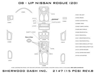 2008, 2009, 2010 Nissan Rogue Wood Dash Kits   Sherwood Innovations 2147 N50   Sherwood Innovations Dash Kits