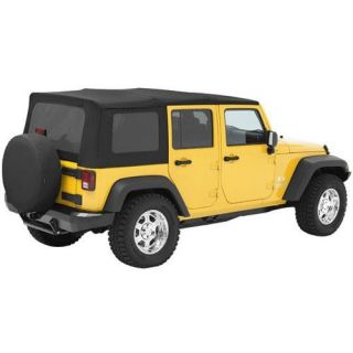 Pavement Ends   Pavement Ends Replay Top Soft Top (Black Diamond) Replacement Top, 51204 35   Fits 2010 to 2016 Wrangler Unlimited and Rubicon Unlimited