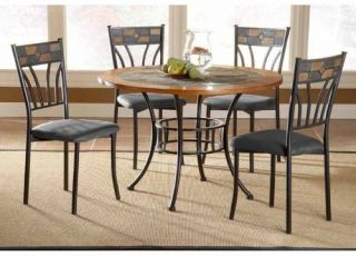 Red Rock Stone Top Round Dining Table   Kitchen & Dining Room Tables