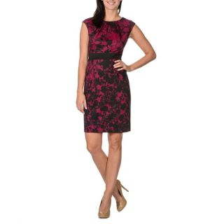 London Times Womens Floral Lace Print Sleeveless Dress   16662818