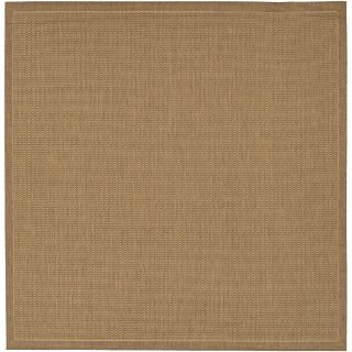 Couristan Recife Saddle Stitch Cocoa Indoor/Outdoor Area Rug