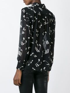 Saint Laurent Musical Note Printed Shirt   Gente Roma