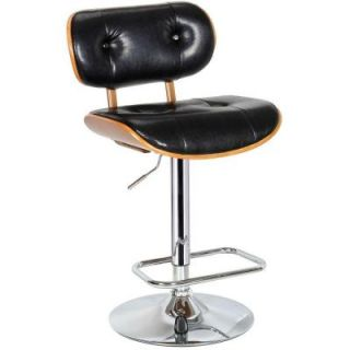 Boraam Black Smuk Adjustable Swivel Stool 99430