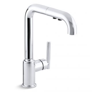 Kohler Purist Single Hole Kitchen Sink Faucet with 8 Pullout Spout