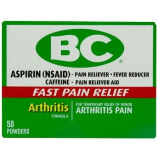Bc Arthritis Formula Pain Reliever Powders 50 ea (Pack of 4)