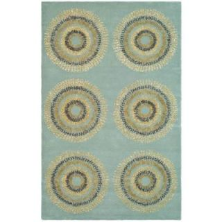 Safavieh Soho Light Blue/Multi 3 ft. 6 in. x 5 ft. 6 in. Area Rug SOH719C 4