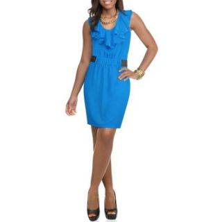 Miss Tina Womens Ruffled Elastic Waist Dress