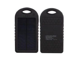 5000 mah Dual USB Waterproof Solar Power Bank Battery Charger for Cell Phone Green Color