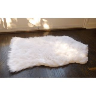 Home Dynamix Faux Sheepskin Fur Rug, White