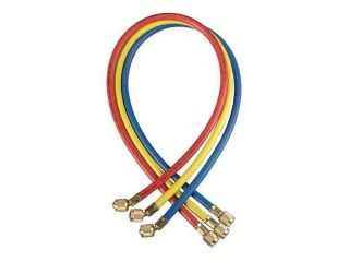 YELLOW JACKET 21048 Charging Hose, 48 In, Yellow