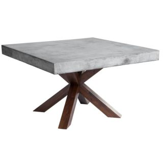 Sunpan MIXT Warwick Square Stone top Dining Table   16370644