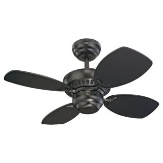 Monte Carlo 4CO28BK Black Ceiling Fan