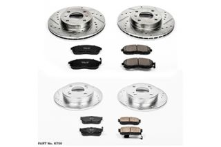1993 2001 Nissan Altima Performance Brake Kits   Power Stop K750   Power Stop Z23 Brake Kit