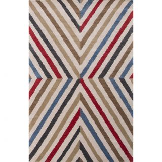 En Casa Red/Orange Geometric Area Rug by JaipurLiving
