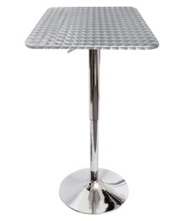LumiSource Bistro Bar Table   Silver Swirl   Pub Tables & Sets