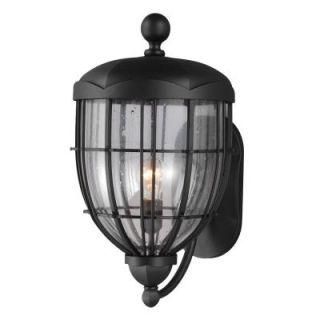 Feiss River North Collection 1 Light Textured Black Outdoor Wall Lantern OL9804TXB